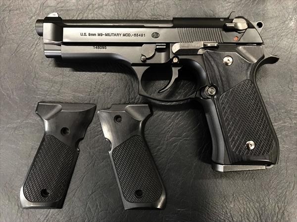 ウッドグリップ U.S.M9/M9A1 <チェッカー/ブラック>