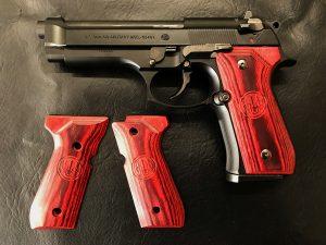 ウッドグリップ U.S.M9/M9A1 <スムース/レッド>