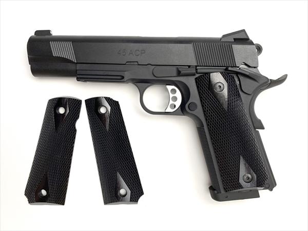 ウッドグリップ M45CQP (ダイヤチェッカー/ブラック)