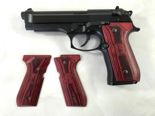 ウッドグリップ U.S.M9/M9A1<スムースロゴ/レッド>