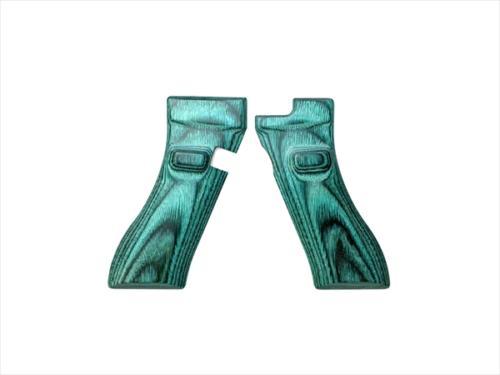 Wood Grip Glock 17 / 18C (Smooth / Green)
