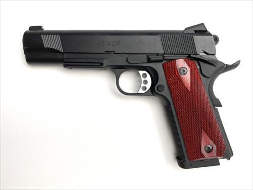 ウッドグリップ M45CQP (ダイヤチェッカー/レッド)